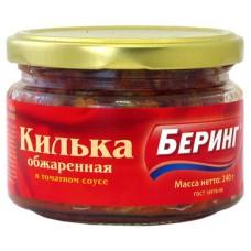 Килька в томатном соусе  с/б Беринг 240 гр