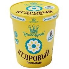 Мороженое Кедровый пломбир в ведре Гроспирон 410 гр